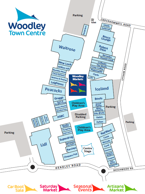 Map of Woodley